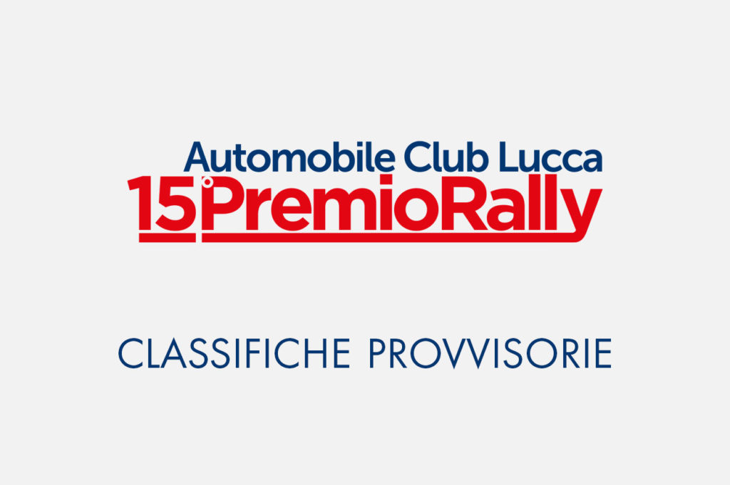 Classifiche 15° Premio Rally